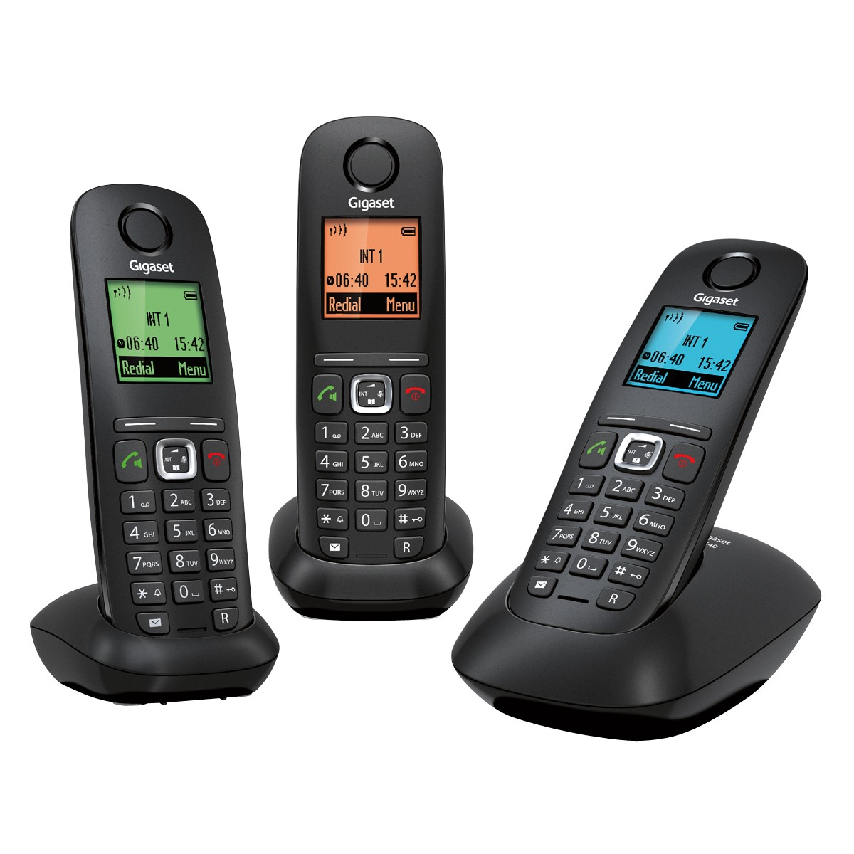 a540 trio black gigaset mobile phone. Black Bedroom Furniture Sets. Home Design Ideas