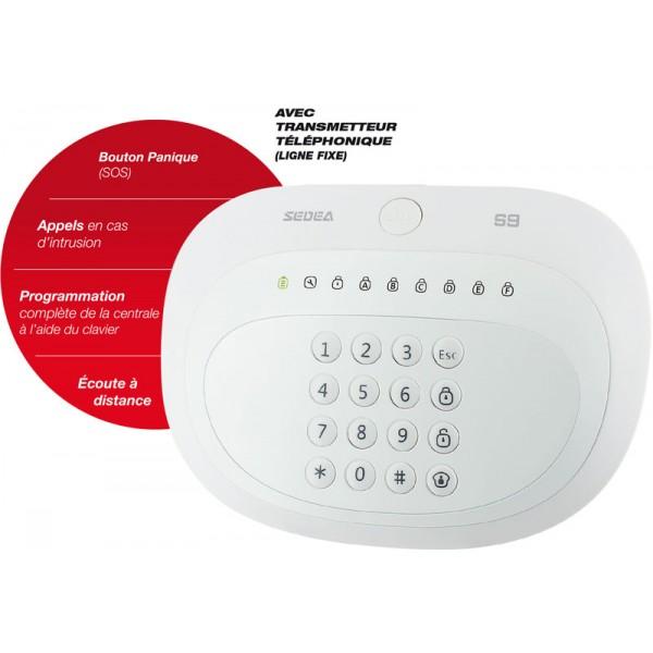 syst me d 39 alarme sans fil rtc s9 sedea intruder alarms. Black Bedroom Furniture Sets. Home Design Ideas